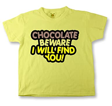 1a66ab009791 Kids YELLOW CHOCOLATE BEWARE T-Shirt