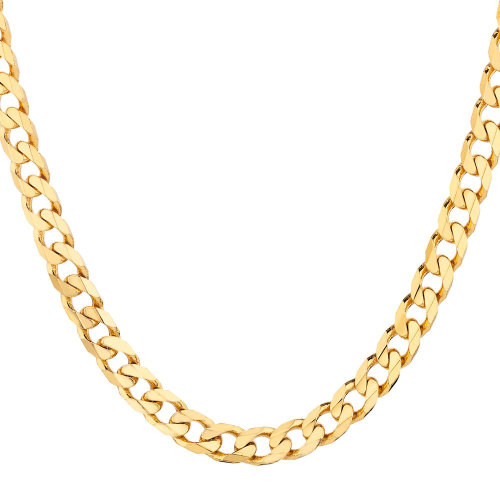 18K Solid Yellow Gold Heavyweight 4.5mm Cuban Curb Link Chain Necklace- Made in Italy- 22''-18 Karat