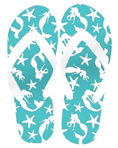 d4b1d7b9a0b12 ... Lets Be Mermaids Sand Imprint Womens Flip Flop Sandals Turquoise  (Small) 6-7 ...