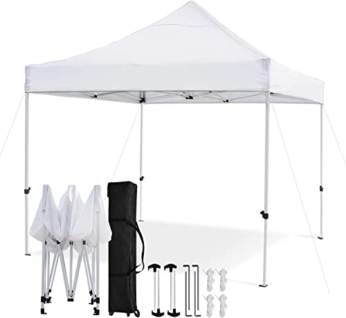 Leader Accessories Premium 10 x 10 Pop up Canopy Tent Commercial Instant Shelter Straight Leg