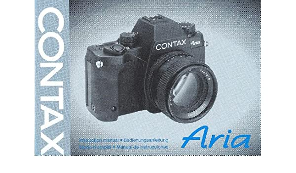 contax aria original instruction manual amazon com books rh amazon com contax aria instruction manual Contax Aria Review