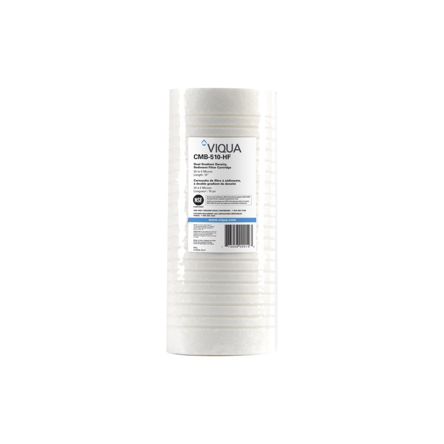 Viqua CMB-510-HF 10 x 4.5 Inch 5 Micron Polypropylene Whole House Filter For The IHS12-D4 UV System