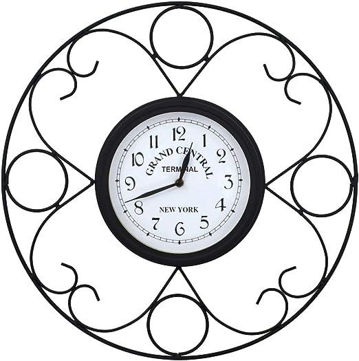 vidaXL Reloj Pared Jardín 45 cm Diseño Vintage Decoración Exterior Hogar Casa: Amazon.es: Hogar
