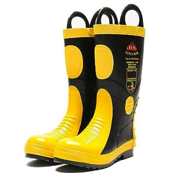 Zapatos De Lucha Contra El Fuego Botas De Extinción Botas De Combate De Acero De Goma