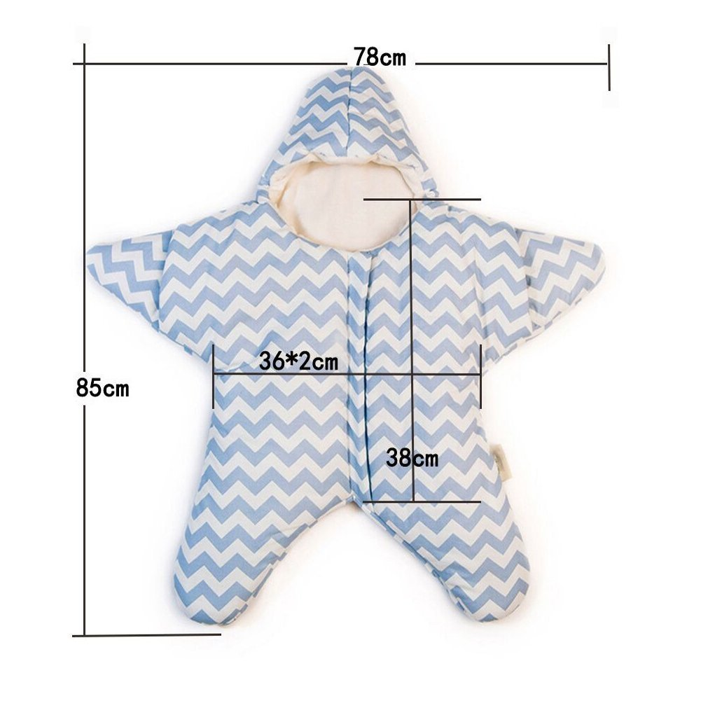 Amazon.com: EXIU Newborn Baby Autumn Winter Starfish Cotton Sleeping Bag Blanket 0-1 Year: Baby