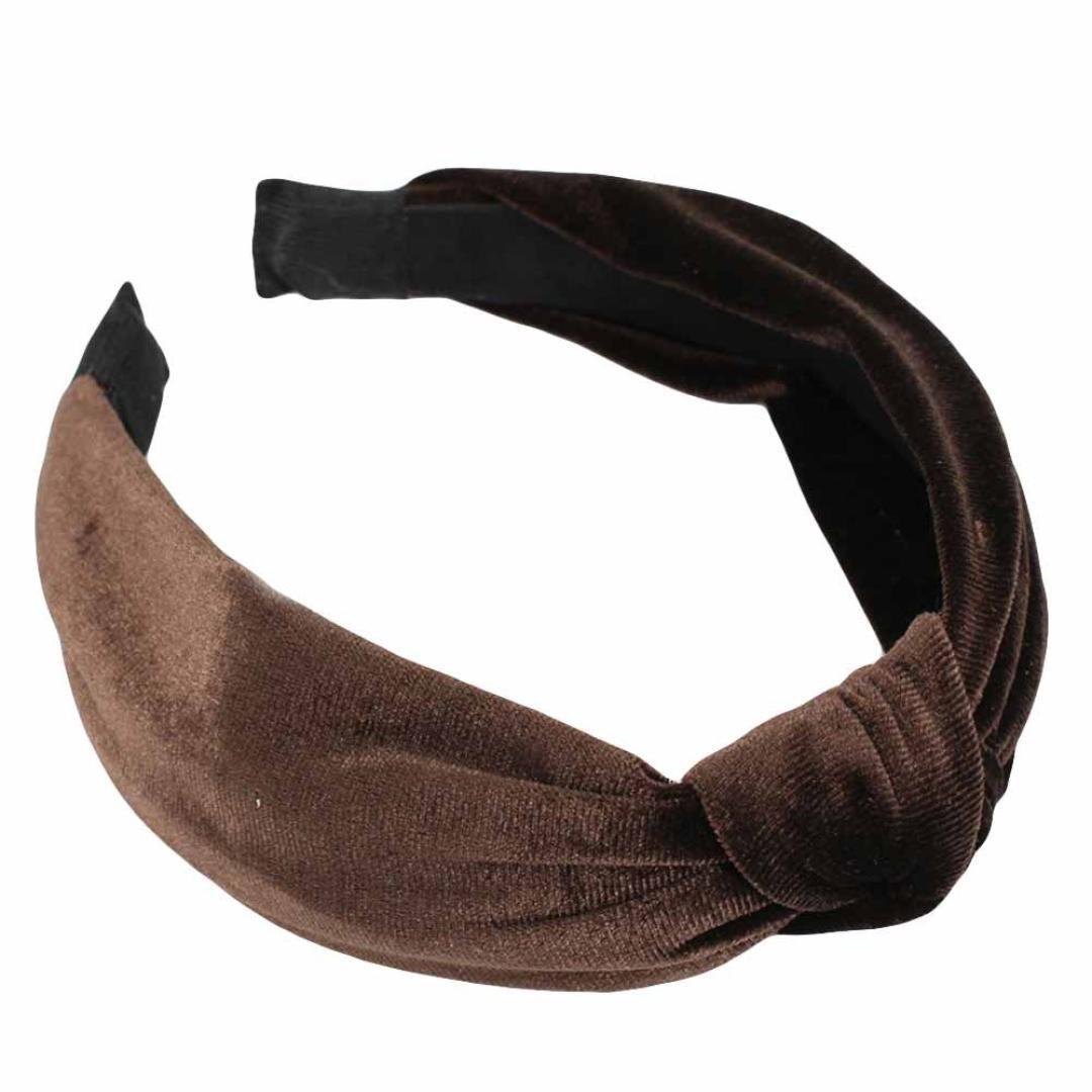 Womens Bow Knot Headband,TIFENNY Twist Cross Tie Velvet Headwrap Hair Band Hoop,Clearance! (Coffee)
