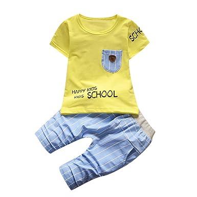 1b10d93dd2798 キッズ Tシャツ ショーツ セット男の子女の子 半袖 レタープリント トップス ストライプ ショートパンツ 子供服