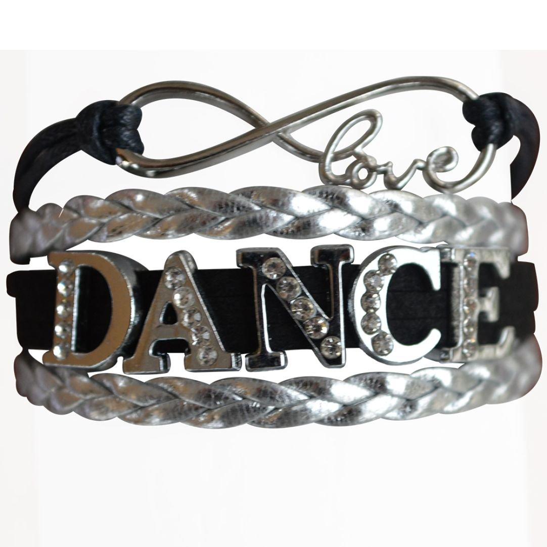 Dance Bracelet- Girls Dance Jewelry - Rhinestone Dance Charm Bracelet for Dance Recitals Infinity Collection