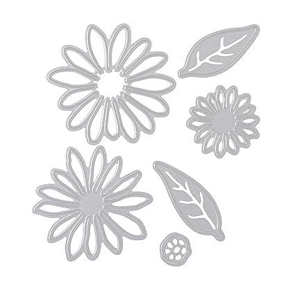 lzndeal Bricolaje estampado en relieve muere herramienta molde hojas flor patrón acero inoxidable Scrapbooking máquina
