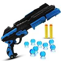 Beetest Standard Wasserpistole Spielzeug, Kinder Spielzeugpistole, Rotes und Blaues Licht Positionierungsziel, weicher Schaum Dart oder Wasserbombe(Blau)