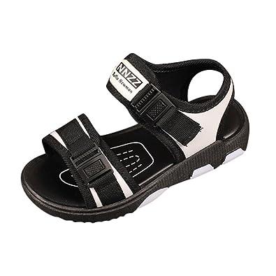 f1db3f62e24de OHQ Enfants GarçOns Et Filles Velcro Chaussures Sport Sandales Plage Garcon  Mariage Plastique Scratch Ete Kickers