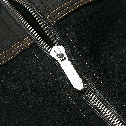 Moda Camicia Invernali Uomini Giovani Marea Colore Casual Puro Nero Giacche Maschio Giacca xxxxxl Per Invernale In rCnR7rqxw