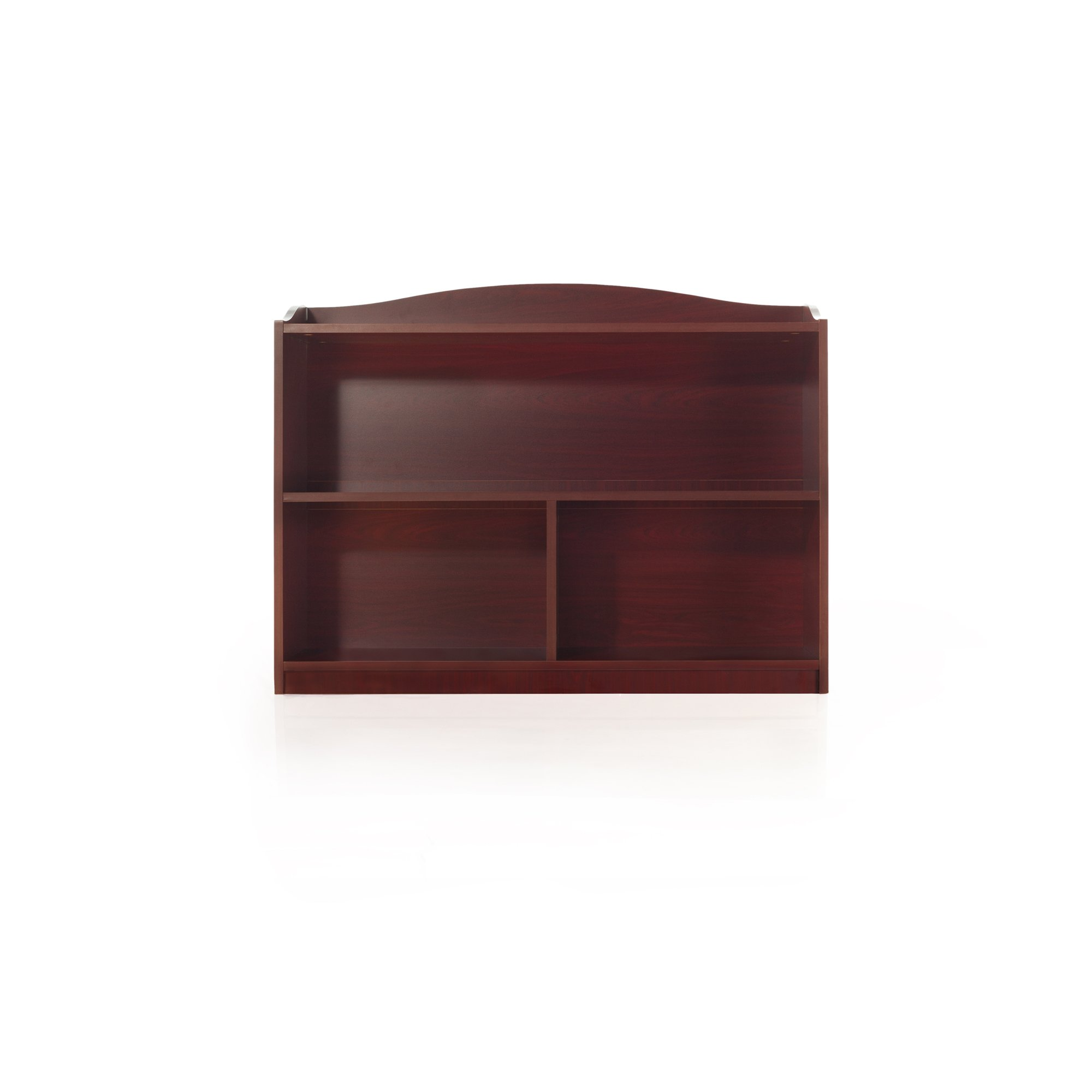 Guidecraft 3-Shelf Cherry Bookcase - Shelves, Home & Office Organizer Furniture, Book Display by Guidecraft (Image #3)