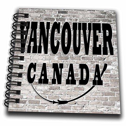 3dRose RinaPiro - Cities around the World - Vancouver. Canada. Brick wall. - Mini Notepad 4 x 4 inch - Vancouver Canada Journal