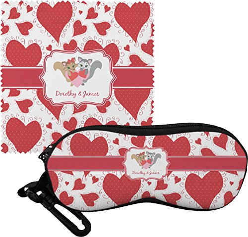 Cute Raccoon Couple Eyeglass Case & Cloth (Personalized) by RNK Shops