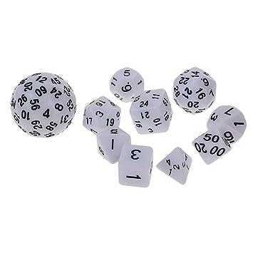 Magideal Set De 10 Piezas Dados De Varios Lados Para Juegos De Mesa