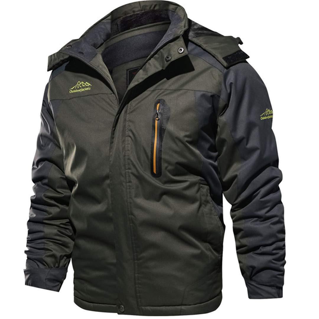 Jackenstr Männer Starke warme Out Winddichtes Mountain Ski Fleece-Jacken-Mantel-Aufmaß