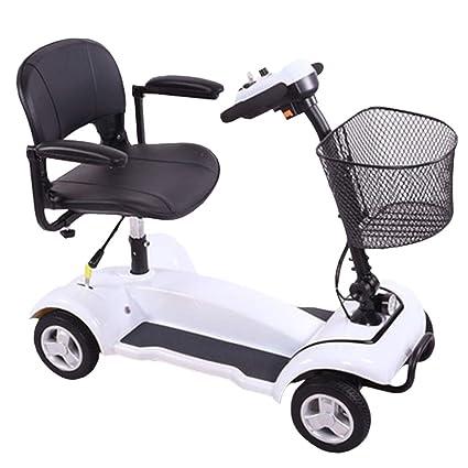KMCQA Powered Movilidad Scooter Senior Inteligente Eléctrico Móvil Rueda Silla de Largo Alcance Viajes