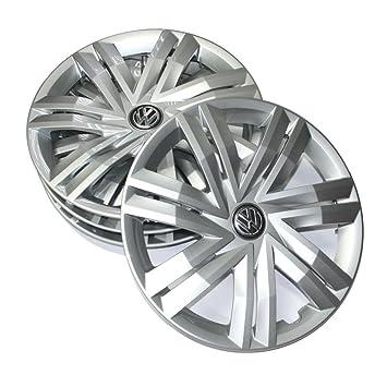 Volkswagen 2 g0071454 Juego Tapacubos (4 unidades) Juego 14 pulgadas tapacubos TAPACUBOS metálicos Brillant Plata: Amazon.es: Coche y moto