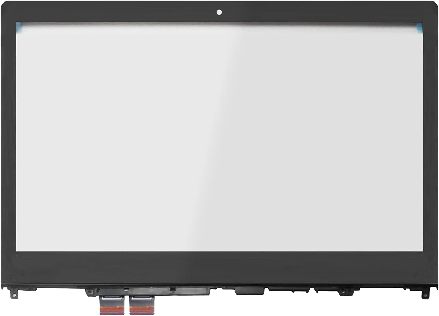 LCDOLED Replacement 14.0 inches Touch Screen Digitizer Front Glass Panel with Bezel for Lenovo Flex 4-14 4-1470 4-1480 80SA 80VD 80S7 (Touch Digitizer + Bezel)