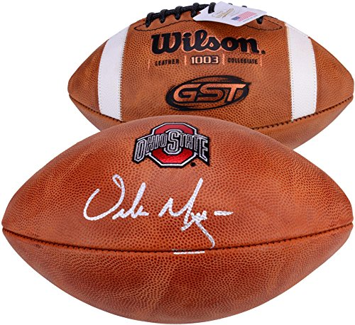 Urban Meyer Ohio State Buckeyes Autographed NCAA Wilson Pro Football Signed in Silver Ink - Fanatics Authentic Certified