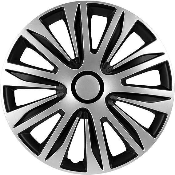 Autostyle PP 5204 Nardo Set de tapacubos, 14 Pulgadas, Color Plata y Negro: Amazon.es: Coche y moto