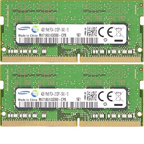 2x 4GB Kit 8GB DDR4 Notebook Memory 2133 Mhz Samsung M471A5143DB0-CPB 260-pin SO-DIMM PC4-17000 RAM for Skylake Brand Laptop (Sodimm Notebook Memory Kit)