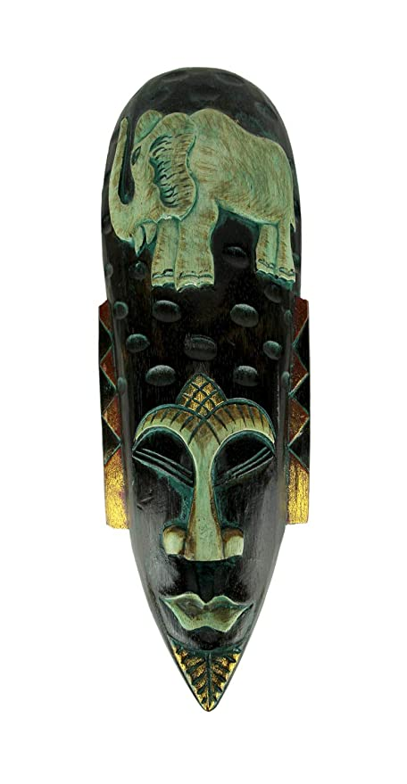 Amazon.com: Things2Die4 - Máscara de pared de madera tallada ...