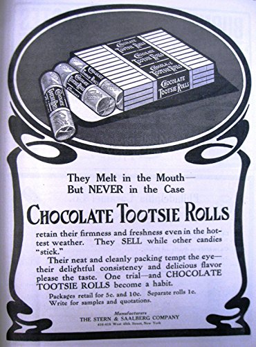 Old Tin Signs Chocolate Tootsie Rolls