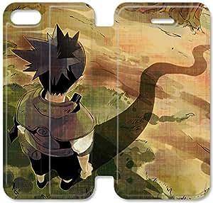 Shikamaru Nara E0H66B3 iPhone 6 6S caso funda de cuero del caso del tirón del teléfono 4. M6D02U4 funda protectora durable