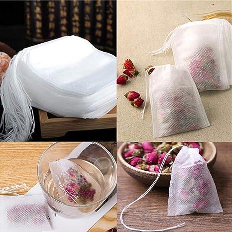 GJEFEGS - Bolsas de té vacías con Cuerda de Sellado de Papel ...