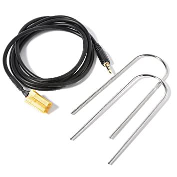 Gazechimp 3,5mm 1,5 M AUX Line in Adapter Kabel Interface Audiokabel F/ür Fiat Grande Punto Mp3