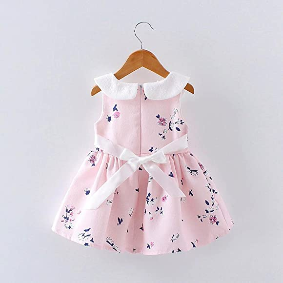 Newborn Infant Baby Girl 3-24 Months Floral Faux Fur Vest Princess Dress Set Warm Outftis