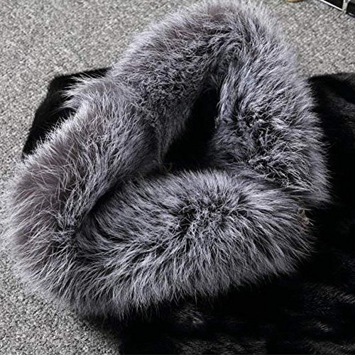 Rvxigzvi Plus Size Women Girl Hooded Faux Fur Coat Front Opening Warm Outwear for Winter Casual Wedding Party (Black, 4XL) by Rvxigzvi (Image #2)