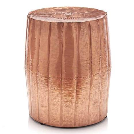 Amazon.com: Tall acabado de cobre martillado Accent mesa de ...