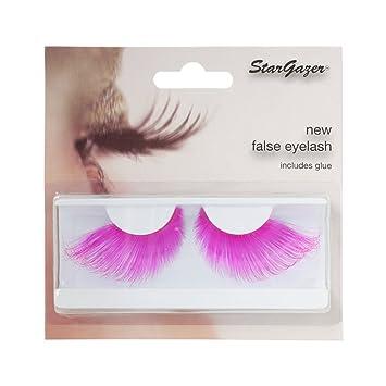 8184a7c0ec3 Stargazer Neon False Eyelashes (Pink): Amazon.co.uk: Health & Personal Care