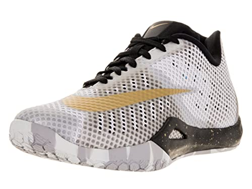 Nike Hyperlive, Scarpe da Basket Uomo, Bianco (Blanco (White/Mtllc Gold