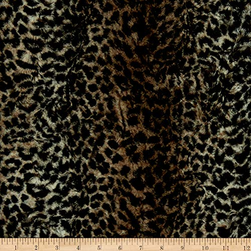 - Shannon Minky Luxe Cuddle Cheetah Chocolate Fabric by the Yard