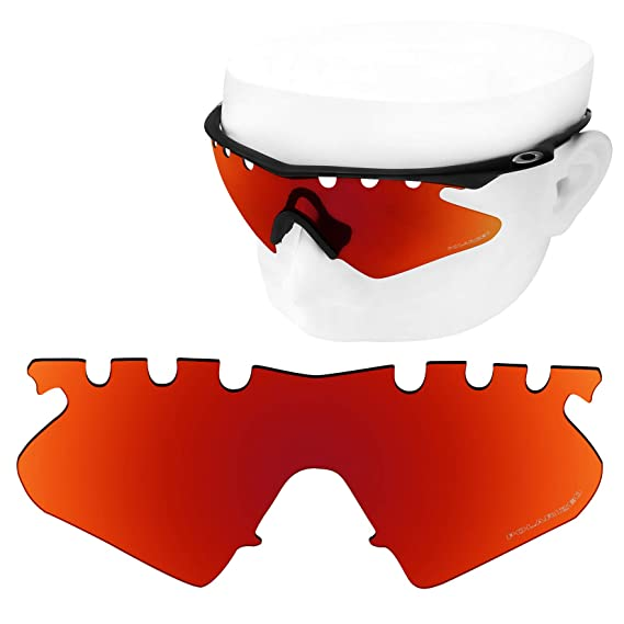 d016a92b31 Amazon.com  OOWLIT 2 Pair Replacement Sunglass Lenses for Oakley M Frame  Heater Vented POLARIZED  Clothing
