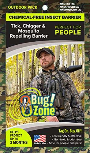 0Bug!Zone Mosquito, Tick & Chigger Barrier Tags, Outdoor Pack