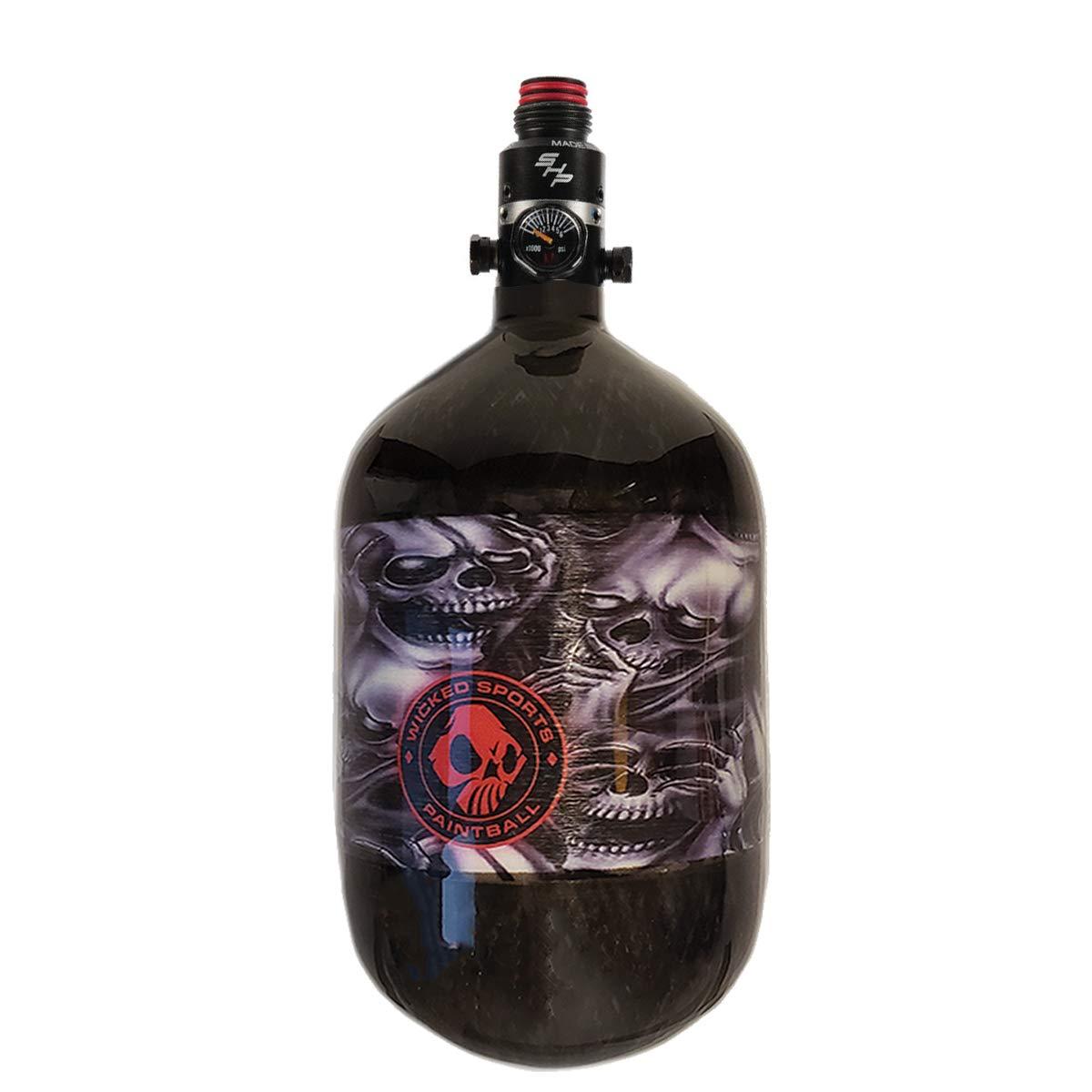 Ninja Carbon Fiber HPA Tank - 68/4500 LITE - PRO V2 SHP REG - No Evil Skulls - Wicked Series