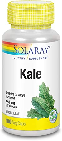 Solaray Kale Leaf 440 mg   100 VegCaps