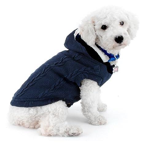 SMALLLEE_LUCKY_STORE Chaqueta de suéter para Perros Chaqueta de Clima frío Chaqueta para Perros con Capucha Chihuahua