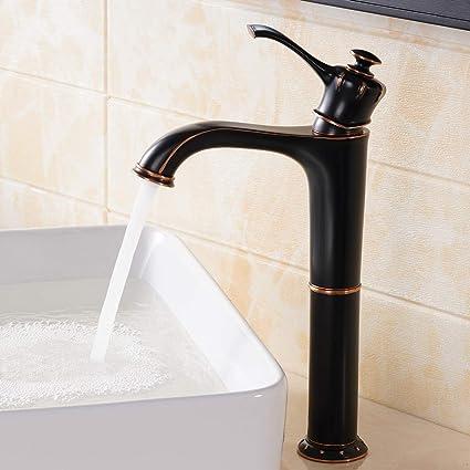 Tall Vessel Sink Faucet.Comllen Antique Single Handle Oil Rubbed Bronze Tall Vessel Sink Bathroom Faucet Vessel Faucet Bronze