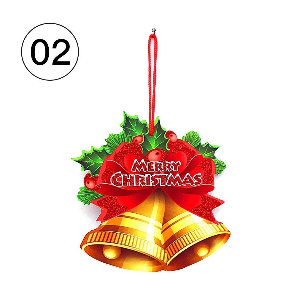 kelihood Étiquette de Noël Suspendu Décoration Bulle Bonhomme de Neige Cloche Santa Joyeux Noël pour Porte Fenêtre Mur Mignon Wonderfully