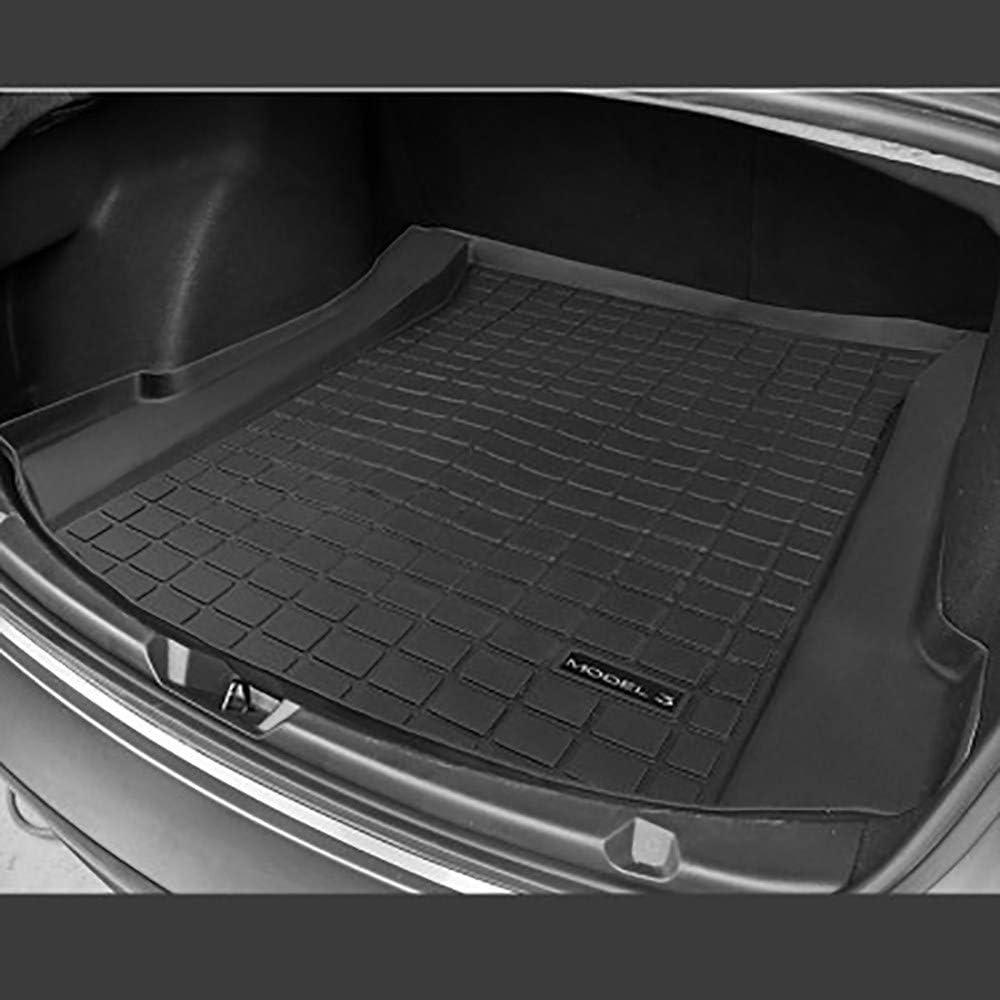Maomaoqueenss Gummi Kofferraummatte Kompatibel Mit Tesla Model 3 Umweltschutz Wasserdichte Und Rutschfeste Oberfläche Kratzfest Verschleißfest Kofferraumwanne Passgenau All Inclusive 3pieces 2019 Garten
