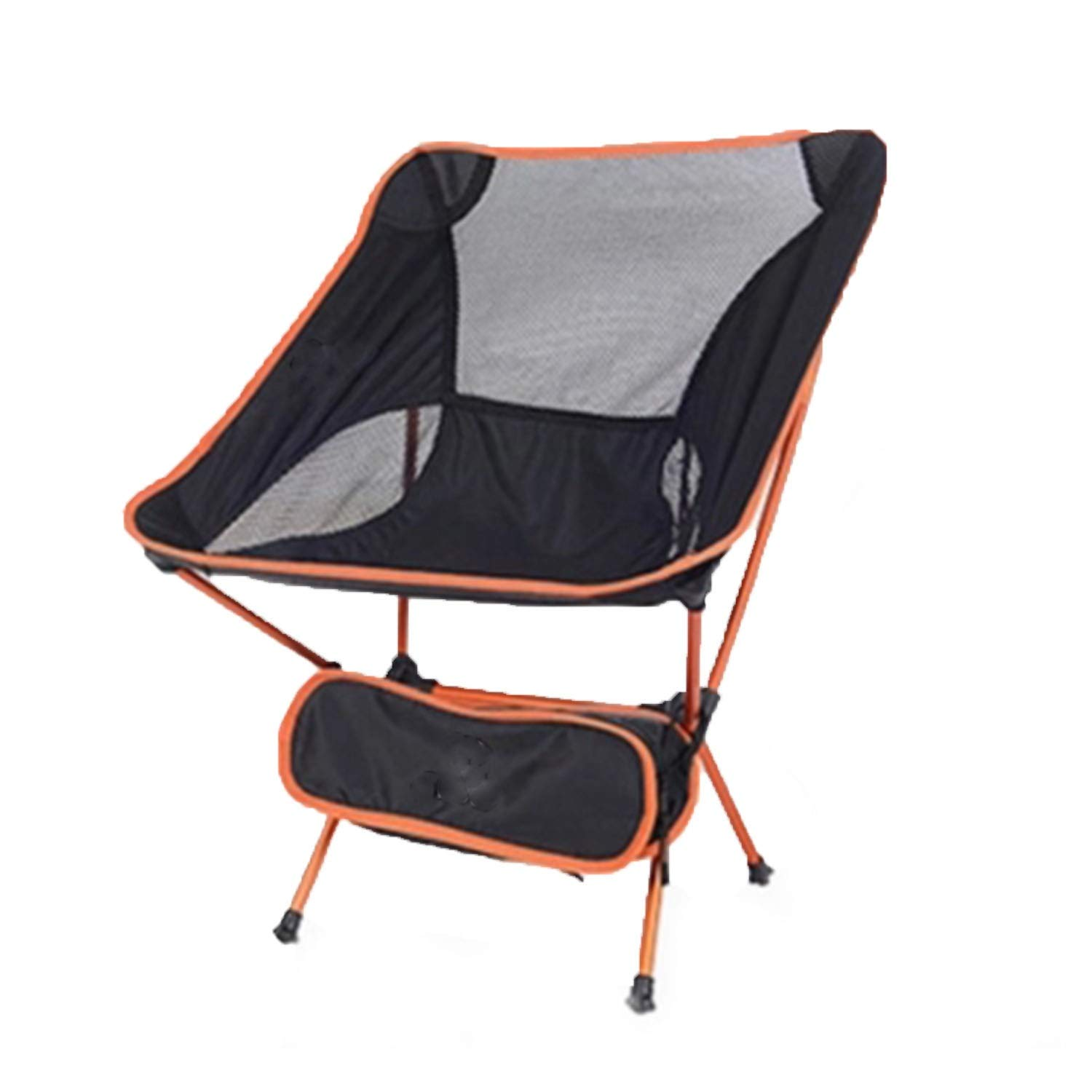 YOZOOE High-Strength Aviation Aluminum Alloy, Folding Beach Moon Chair, Ultra-Light Fishing Stool, Portable Camping Supplies (Color : Orange) by YOZOOE