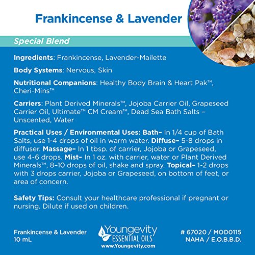 FRANKINCENSE AND LAVENDER OIL 10 ML - 3 Pack