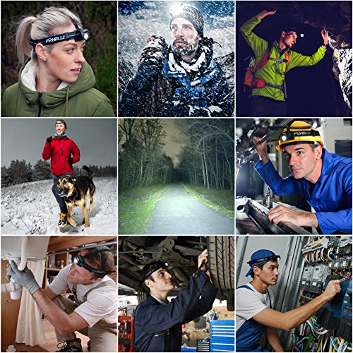 Foxelli USB Rechargeable Headlamp Flashlight 100 Hours of Constant Light on a Single Charge, Ultra Bright, Waterproof, Impact Resistant, Lightweight & Comfortable, Two Mini USB Charging Cables Incl.