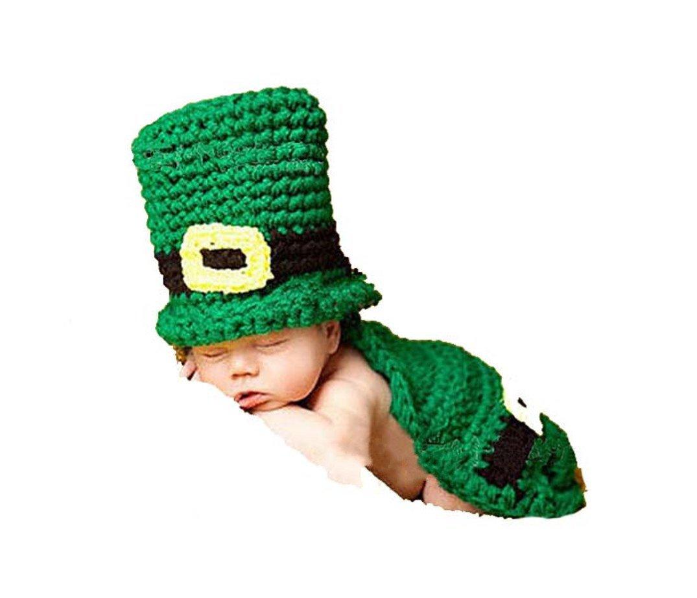 Amazon.com  Rush Dance St Patrick s Day Leprechaun Crochet Beanie Photo  Prop One Piece Hat  Baby 216bfd8196b